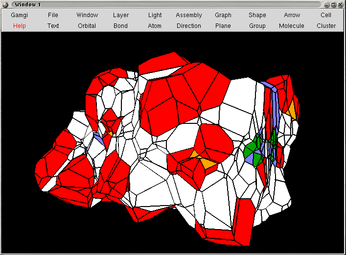Image showing Voronoi tesselation of DNA, with periodoc boundary conditions