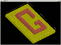 Image showing multilayer nanostructure with a G letter