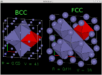 Image showing BCC, CFC octahedral interstices
